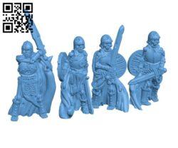 Skeleton warriors set H000599 file stl free download 3D Model for CNC and 3d printer