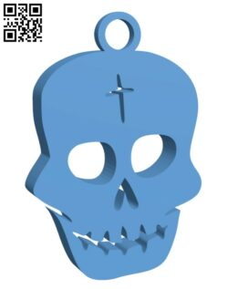 Skull earring H001065 file stl free download 3D Model for CNC and 3d printer