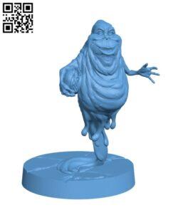 Slimer with hamburger H000684 file stl free download 3D Model for CNC and 3d printer
