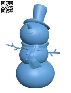 Snowman Christmas Ornament H001066 file stl free download 3D Model for CNC and 3d printer
