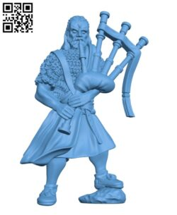 Southern Kingdom Highlander with Bagpipe H000685 file stl free download 3D Model for CNC and 3d printer