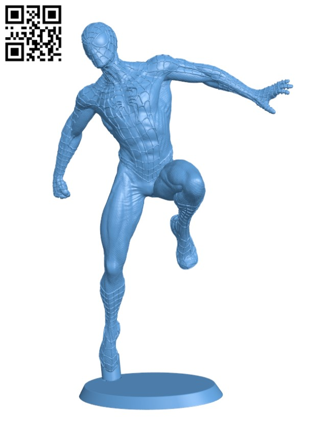 Spiderman - Superhero H000745 file stl free download 3D Model for CNC and 3d printer