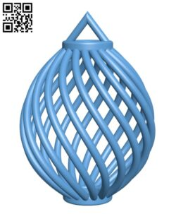 Spiral Christmas Ball H001007 file stl free download 3D Model for CNC and 3d printer