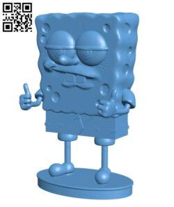 SpongeBob like a boss H000686 file stl free download 3D Model for CNC and 3d printer