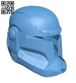 Star Wars – Republic Commando Helmet H000800 file stl free download 3D Model for CNC and 3d printer