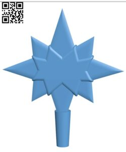 Star for christmas tree H001132 file stl free download 3D Model for CNC and 3d printer