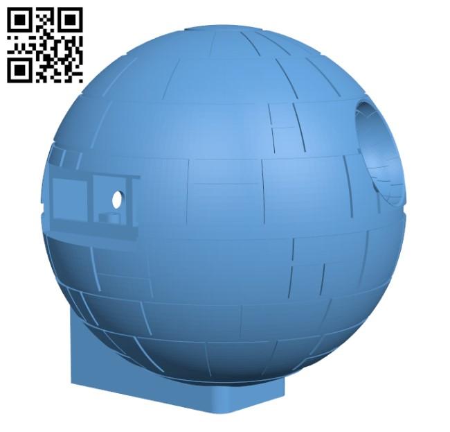 Starwars Deathstar raspberry Pi 3 case H000651 file stl free download 3D Model for CNC and 3d printer