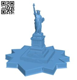 Statue Of Liberty (with Base) H000714 file stl free download 3D Model for CNC and 3d printer