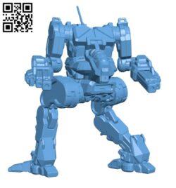 Stormcrow Prime, AKA (Ryoken) for Battletech – Robot H000653 file stl free download 3D Model for CNC and 3d printer