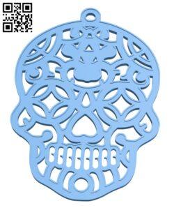 Sugar Skull Halloween Decoration H001068 file stl free download 3D Model for CNC and 3d printer