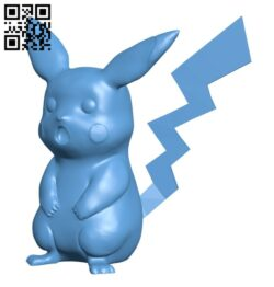 Surprised Pikachu  – Pokemon H000865 file stl free download 3D Model for CNC and 3d printer