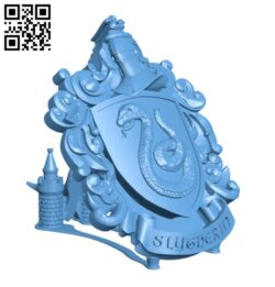 Syltherin Coat of Arms Wall – Harry Potter H000802 file stl free download 3D Model for CNC and 3d printer