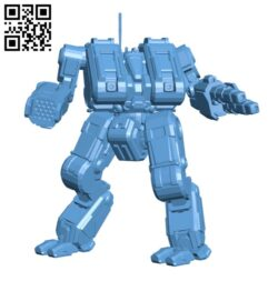 TNS-4S Thanatos for Battletech – Robot H000655 file stl free download 3D Model for CNC and 3d printer