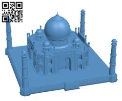 Taj Mahal – Agra, India H000803 file stl free download 3D Model for CNC and 3d printer