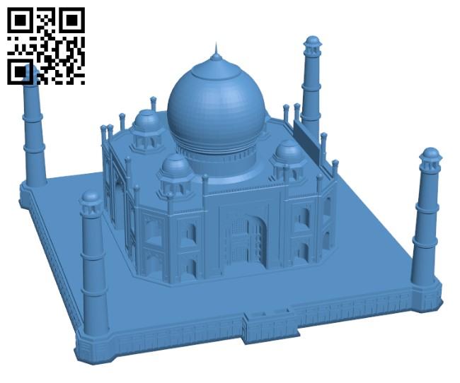 Taj Mahal - Agra, India H000803 file stl free download 3D Model for CNC and 3d printer