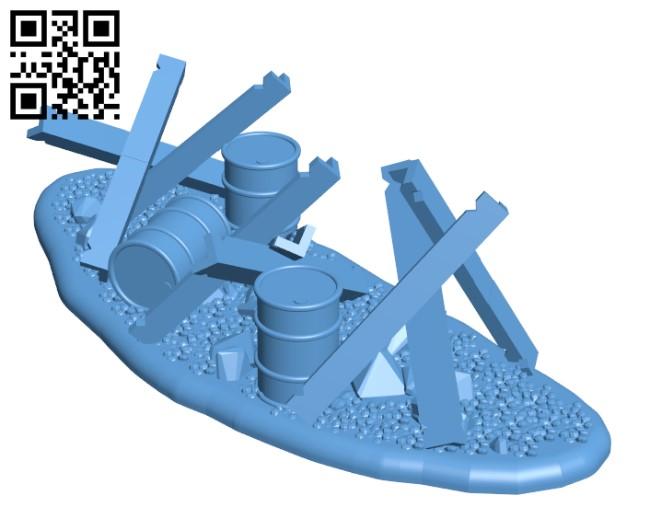 Tank Trap H000895 file stl free download 3D Model for CNC and 3d printer