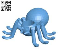 Tarantula Candle Holder H001133 file stl free download 3D Model for CNC and 3d printer