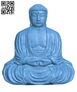 The Great Buddha at Kamakura, Japan H000925 file stl free download 3D Model for CNC and 3d printer
