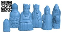 The Lewis Chessmen at The National Museum of Scotland H000717 file stl free download 3D Model for CNC and 3d printer