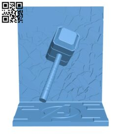 Thor bookend H000866 file stl free download 3D Model for CNC and 3d printer