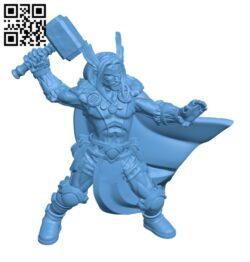 Thor god viking barbarian H000837 file stl free download 3D Model for CNC and 3d printer