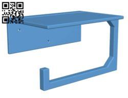 Toilet Paper Phone Holder H000748 file stl free download 3D Model for CNC and 3d printer