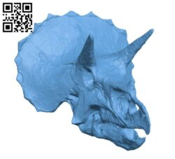 Triceratops Skull in Colorado, USA H000689 file stl free download 3D Model for CNC and 3d printer