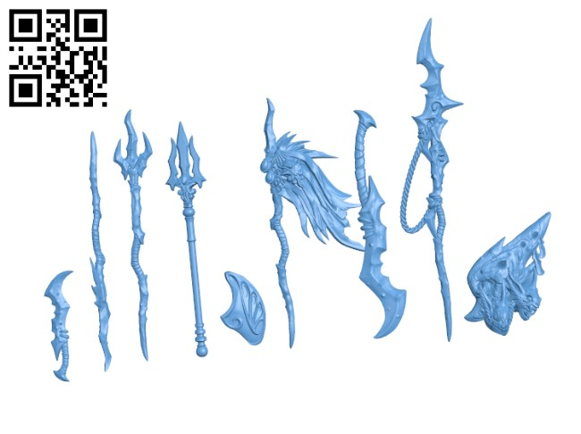 Triton Weapons H000719 file stl free download 3D Model for CNC and 3d printer
