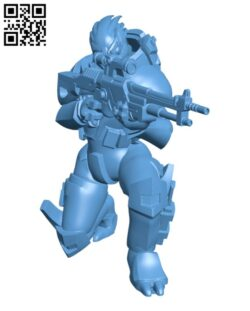 Turian soldier H000774 file stl free download 3D Model for CNC and 3d printer