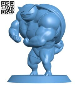 Ultra swole Squirtle – Pokemon H000603 file stl free download 3D Model for CNC and 3d printer