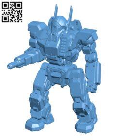 VLK-QA Valkyrie for Battletech – Robot H000657 file stl free download 3D Model for CNC and 3d printer