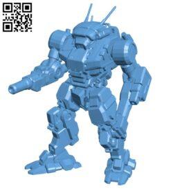 VND-1R Vindicator for Battletech – Robot H000658 file stl free download 3D Model for CNC and 3d printer