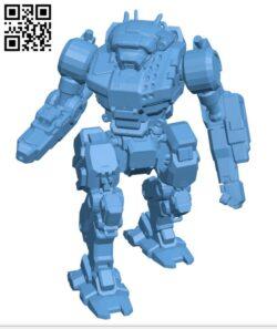 VND-1SIB Vindicator Saint Ives Blue for Battletech – Robot H001074 file stl free download 3D Model for CNC and 3d printer