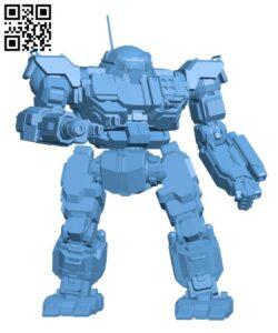 VTR-9A Victor for Battletech – Robot H000576 file stl free download 3D Model for CNC and 3d printer