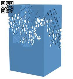 Voronoi Lamp H000838 file stl free download 3D Model for CNC and 3d printer