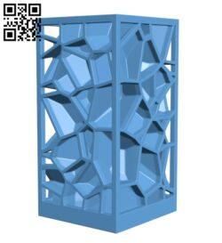 Voronoi lamp H000928 file stl free download 3D Model for CNC and 3d printer