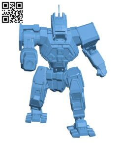 WFL-1-P Wolfhound for Battletech – Robot H000808 file stl free download 3D Model for CNC and 3d printer