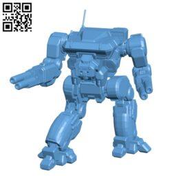 Warhawk Prime, AKA Masakari for Battletech – Robot H000806 file stl free download 3D Model for CNC and 3d printer