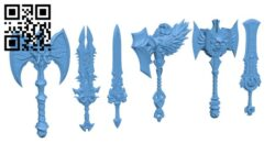 Weapon Set H000807 file stl free download 3D Model for CNC and 3d printer
