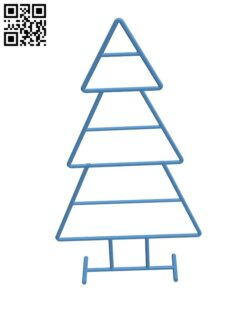 Wireframe Xmas Tree H001011 file stl free download 3D Model for CNC and 3d printer