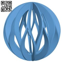 Xmas Ball H001075 file stl free download 3D Model for CNC and 3d printer