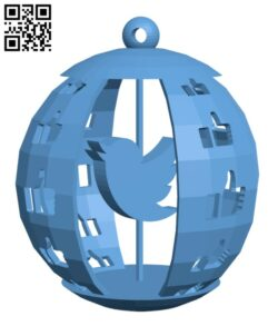 Xmas Social Network Ball H001137 file stl free download 3D Model for CNC and 3d printer