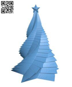Xmas tree H001018 file stl free download 3D Model for CNC and 3d printer