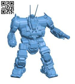 ZEU-5T Zeus for Battletech – Robot  H000630 file stl free download 3D Model for CNC and 3d printer