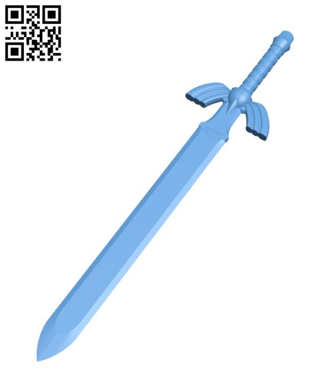 Zelda Master Sword H000868 file stl free download 3D Model for CNC and 3d printer