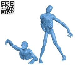 Zombies H000749 file stl free download 3D Model for CNC and 3d printer